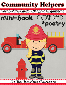 Fire Safety - Community Helpers - Poetry Close Reading Set & Mini Book