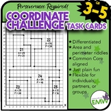 Coordinate Challenge Task Cards Using Area and Perimeter