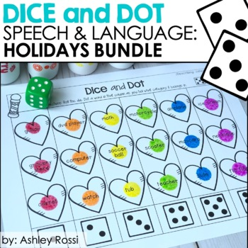 Dice & Dot For Speech & Language: Growing Holiday Bundle