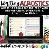 Acrostic Poem Digital Templates | Poetry Month Activities