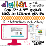 Google Classroom™ Distance Learning Math Back to School Ce