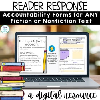 Reading Response For Any Book   Distance Learning