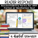 Reading Response For Any Book | Distance Learning