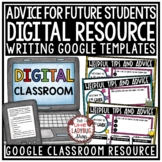 Digital End of Year Writing Advice for Next Years Student, Tips for Future Class