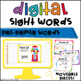 Digital Sight Word Practice: Pre-primer (Distance Learning)