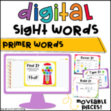 Digital Sight Word Practice: Primer (Distance Learning)
