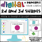 Digital Task Cards for Google Classroom™: 2D & 3D Shapes