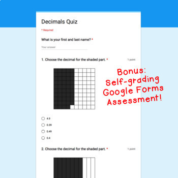 Google Classroom™ Math Activities: Decimals Digital Task Cards