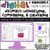 Decimals Digital Task Cards: Identifying, Comparing & Ordering