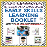50% off! EARLY INTERVENTION SPEECH AND LANGUAGE EARLY SKILLS LEARNING BOOKLET