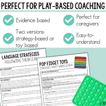 Early Intervention Language Handouts- For Parents and Speech Therapists