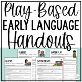 Early Intervention Language Handouts for SLPs and Parents- Play Based- No Prep