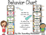 Editable Behavior Chart {Black & White Polka Dot Classroom
