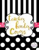 Editable Black & White Polka Dot Teacher Binder Covers