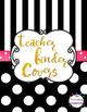 Editable Black & White Polka Dot Teacher Binder Covers