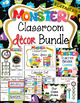 Editable Classroom Decor Bundle Monster Themed Classrrom