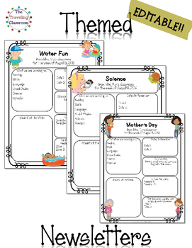 Classroom Newsletter Templates Editable May July Tpt