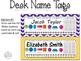 Editable Polka Dot Chevron Name Plates