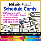 Daily Schedule Cards ... 168 Options in 2 Popular Styles! EDITABLE!