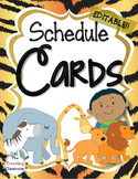 Editable Schedule Cards {Jungle Zoo Safari Theme}