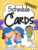 Editable Schedule Cards {Polka Dot Chevron Theme}