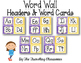 Editable Word Wall Headers & Word Cards {Polka Dot ChevronTheme}