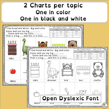 Interactive Emergent Readers BUNDLE  | Open Dyslexic Font
