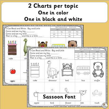 Emergent Readers for Kindergarten BUNDLE | SASSOON Font