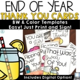 Thank You Cards Templates   Notes For Students From Teacher