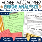 Error Analysis Grade 4 | Numbers and Operations