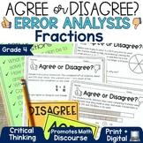 Error Analysis Math Grade 4   Fractions