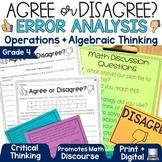 Error Analysis Math Grade 4   Operations and Algebraic Thinking