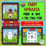 FARM APRAXIA FEED & SAY WITH GIFs + TIC-TAC-TOE BOOM CARDS™