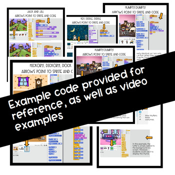 Hour of Code Activities Programming with Nursery Rhymes STEAM Projects Scratch