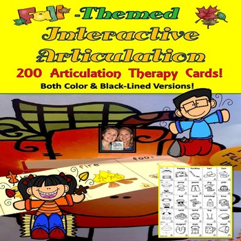 Fall-Themed Pumpkin Fill Up +200 Articulation Cards (color and black-ink)