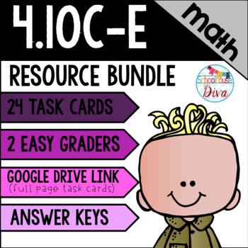 Financial Literacy - 4.10C, D, & E Math TEKS Resource Bundle