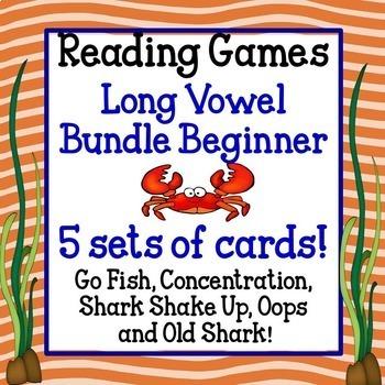 Reading Games - Long Vowel Bundle Beginner!