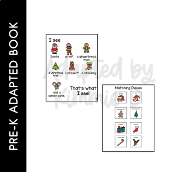 Santa Santa What Do You See?: Adapted Book for Early Childhood Special Education