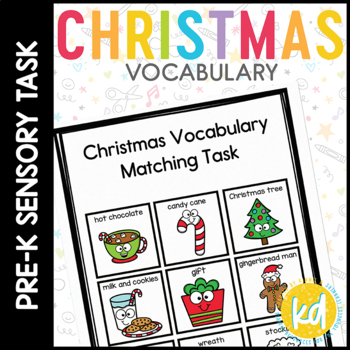 Christmas Vocabulary Folder Game for Students with Autism & Special Needs