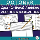 October Word Problems - Addition Subtraction