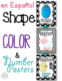 Formas, colores, y números - Spanish Shapes, Colors, & Number Posters