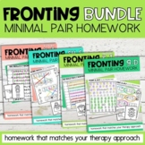 Fronting Minimal Pairs Homework BUNDLE | Speech Therapy |