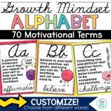 Growth Mindset Alphabet Posters Cursive   Classroom Decor