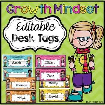 Growth Mindset Desk Tags