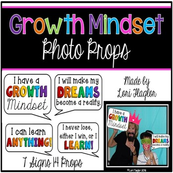 Growth Mindset Photo Props