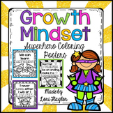 Growth Mindset Superhero Coloring Posters