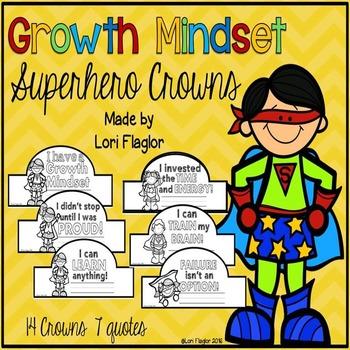 Growth Mindset Superhero Themed Crowns