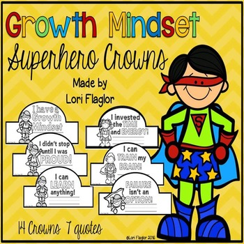 Growth Mindset Superhero Themed Crowns