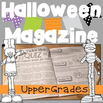 **Halloween Magazine for Upper Grades!