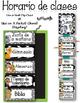 Horario de clases en Español - Editable Spanish Schedule Cards